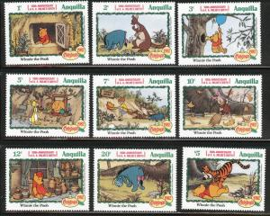 ANGUILLA Scott 511-519 MNH** Disney set $13.90