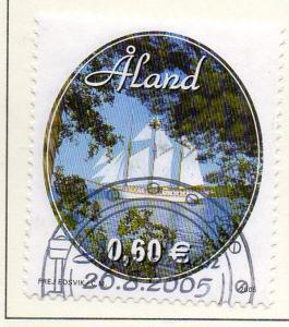 Aland Finland Sc  238 2005 Schooner Linden stamp used