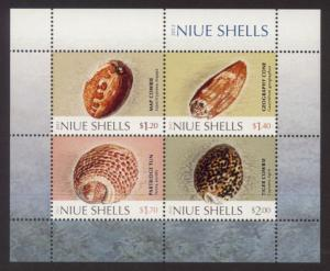 Niue Sc# 875a MNH Shells (S/S)