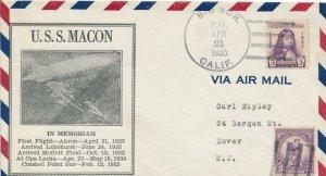 Cover Macon 1935 Airship In Memoriam Crash Point Sur