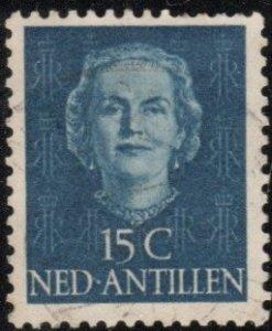 Netherlands Antilles 218 - Used - 15c Queen Juliana (1950) +