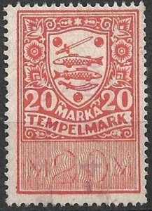 Estonia Eesti - 10 old Stempelmark stamps (revenues fiscals taxe) various design