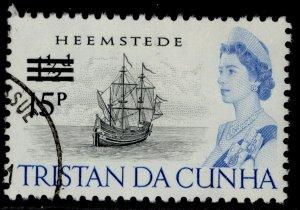 TRISTAN DA CUNHA QEII SG146, 15p on 1½d black & blue, FINE USED.