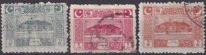 Turkey In Asia #99-101 F-VF Used CV $6.00  (Z5397)