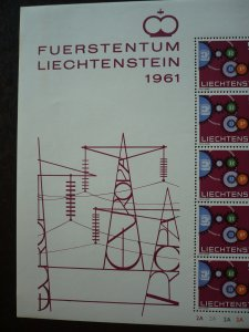 Europa 1961 - Liechtenstein- Full Sheet of 20 Stamps - Mint