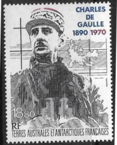 FRENCH SOUTHERN & ANTARCTIC TERRITORIES SG282 1991 CHARLES DE GAULLE MNH