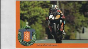 Isle of Man TT 100 Years Centenary John McGuinness Post Stamps Card ref R 16765
