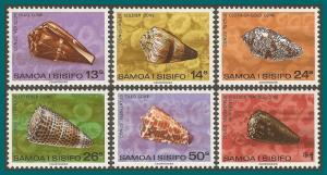 Samoa 1978 Shells II, MNH 487-492,SG525-SG530