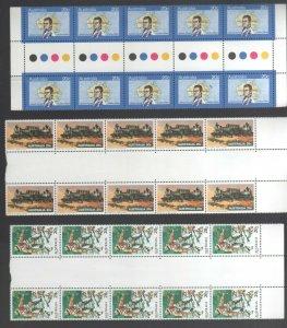 Australian Stamps MUH 1979 20c Matthew Flinders Fishing Steam Locomotives Gutter