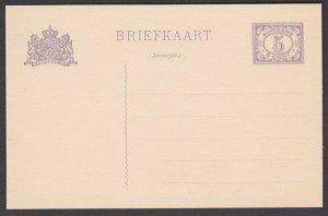 SURINAME 5c postcard fine unused............................................R459