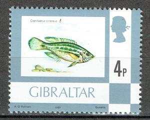 Gibraltar SC# 345 *Mint NH*