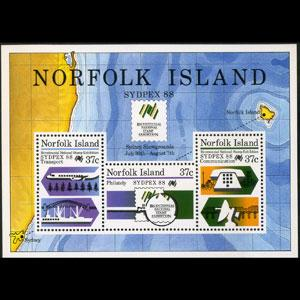 NORFOLK IS. 1988 - Scott# 439a S/S Sydpex NH