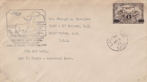 CANADA Airmail 1932 Official First Flight Stags Scene Slogan Stamp Cover Rf48461