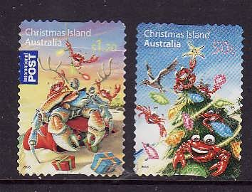 Christmas Is.-Sc#473-4-used set-Christmas-2008-