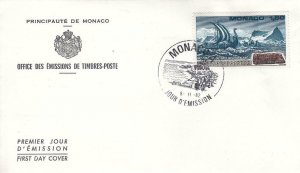 1982, Monaco: Erik the Red's Long Boat, FDC (E8633)
