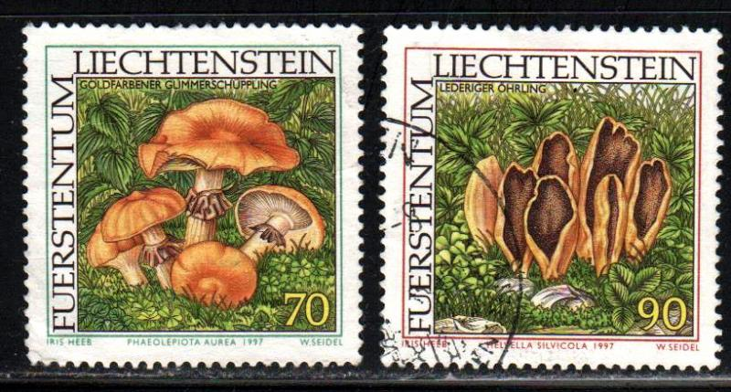 Liechtenstein # 1101-02 ~ Short Set 2/3 ~  Used, HMR ~ cv 1.15