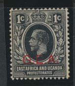 Tanganyika SG 45b Mint Never Hinged  Vermillion opt G.E.A.