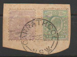 GB Edward VII (SG 267) with QV South Australia (SG 184) Used from NSW  toned ...
