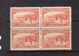 Canada #102 Mint Block Of Four