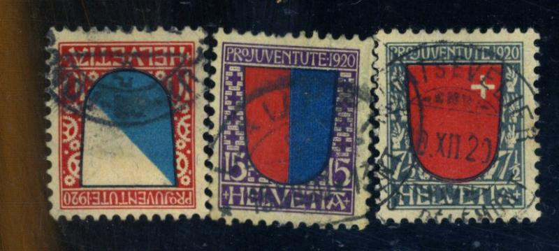 Switzerland #B15-17 Used F-VF Cat$30