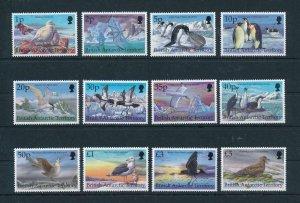 [103009] British Antarctic Territory 1998 Birds vögel oiseaux 12 values MNH