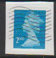 GB QE II Machin SG U2957 - 2nd brt blue -  M14L - Source  none