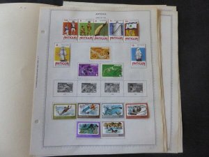 Antigua 1976-1984 Stamp Collection on Alb Pgs