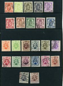 Belgium 2 sets complete for time period Used