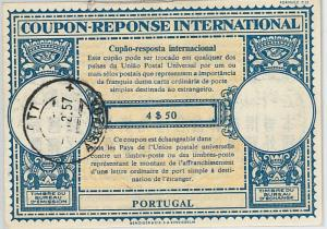 COUPON REPONSE  - London Model :  PORTUGAL 1957