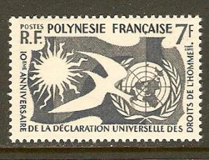 French Polynesia #191 NH Human Rights