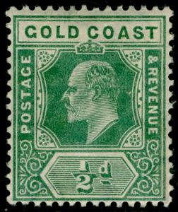 GOLD COAST SG59, ½d dull green, M MINT. Cat £12.