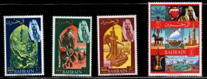 BAHRAIN Scott 149-152 MH* high value stamps from set