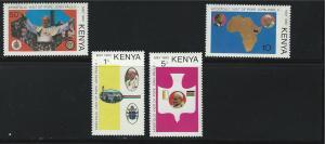 Kenya SC167-170 Visit of Pope JohnPaul II  to Kenya MNH  1980