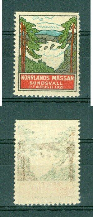Sweden. Poster Stamp 1921. Norrlands Exhibition,Sundsvall. Forest,Lake.