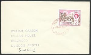 BERMUDA 1969 cover - PEROT POST OFFICE cds in red..........................51896