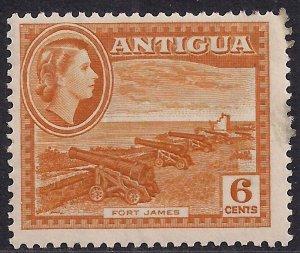 Antigua 1953 – 62 QE2 6ct Yellow Ochre MM SG 126 ( L1364 )