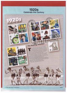 #SP1259C(scott 3184) FDC Souvenir Page 1920's Celebrate the Century