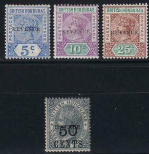 British Honduras 1899 48-51 Mint Set