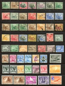 x512 - MALAYA Lot of (54) Stamps Mostly Used. Various periods. Tiger Issues
