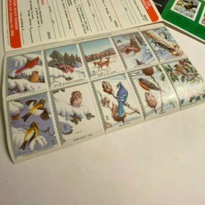 National Wildlife Foundation Christmas seal booklets 1967-1972 full booklets