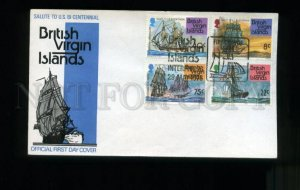 162801 British VIRGIN ISLANDS 1976 Ships Sailboats FDC Cover