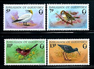 Guernsey MNH 165-8 Birds
