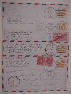 HAWAII  NAVY #10,29,91,128 5 DIFF. 90th NCB 1944-1945