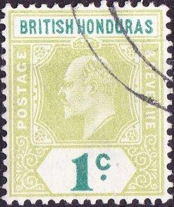 BRITISH HONDURAS 1902 KEDVII 1c Grey-Green & Green SG80 Fine Used