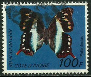 Ivory Coast #446D Used Stamp - Butterfly (b)