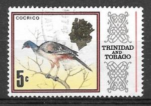 Trinidad and Tobago 1969 5 cents Chachalaca bird, used, Scott #146