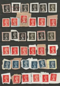 1989, 1990 1st Black x 27, 1st Red x 30, 2nd Dark Blue x 15 on paper. 2 Pages