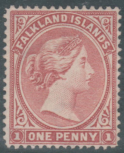 Falkland Is.2016Scott #7 Mint No Gum 1886 1d Wmk. Sideways Cat. $95. Fine