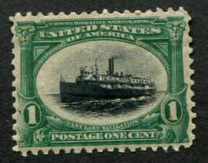 # 294 1c Steamship Unused OG MH  VF $17