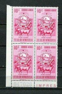 Venezuela 1953 ERROR Upper Right Stamp has short 1MNH Mi 989 I variety SKU 836